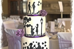 love story wedding cake sussex