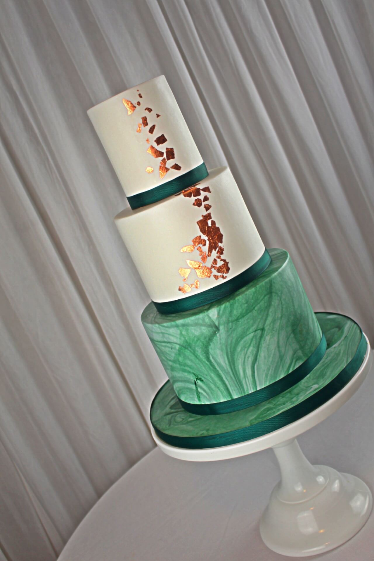 copper green cake