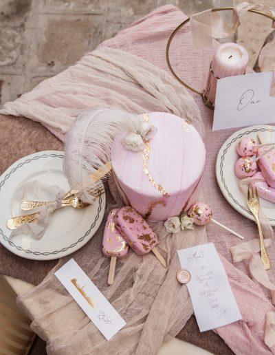venice cake table